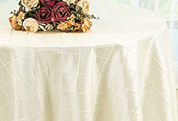 Pintuck Taffeta Tablecloth Ivory