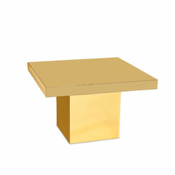 Glossy Square Table Gold
