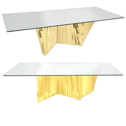 Krypotnite Dining Table Gold