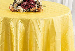 Pintuck Taffeta Tablecloth Canary Yellow