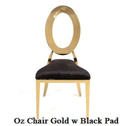 Gold Oz Chair with Black Pads