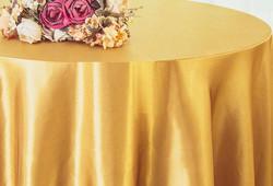 Gold Satin Tablecloth