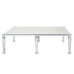 Venus Dining Table Silver 8ft