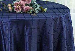 Pintuck Taffeta Tablecloth Navy Blue