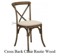 X-Back Farm Style Chair Rustic Wood