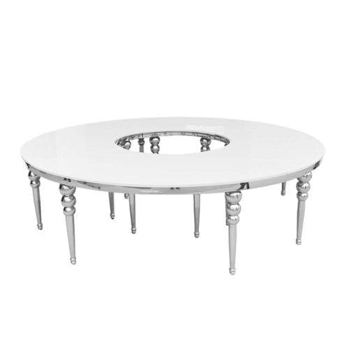 Dubai Serpentine Table Chrome