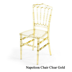 Clear Gold Napoleon Chair