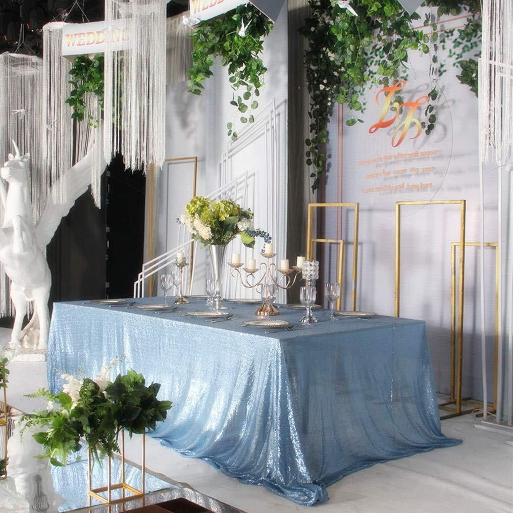 Baby Blue Sequin Tablecloth Rectangular.