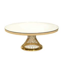 Round Washing Cake Table Gold