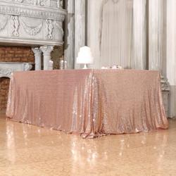 Rose Gold Sequin Tablecloth Rectangular.