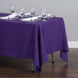 Rectangular Tablecloth Purple