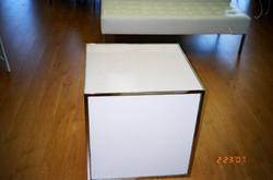 Lighted Cube Side Table