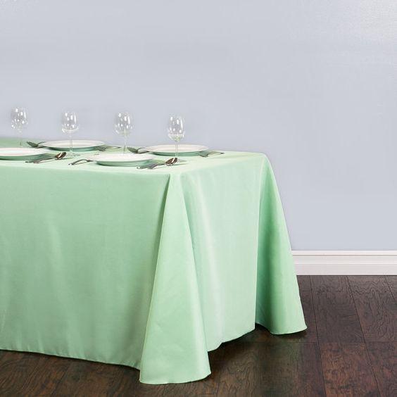 Rectangular Tablecloth Mint