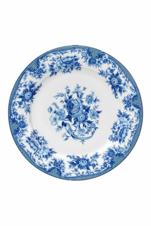Blue Design Dinner Plate
