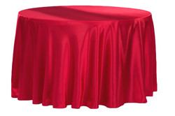 Apple Red Satin Tablecloth