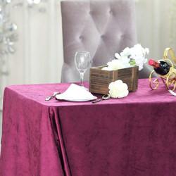 Purple Premium Velvet Rectangle Tableclo