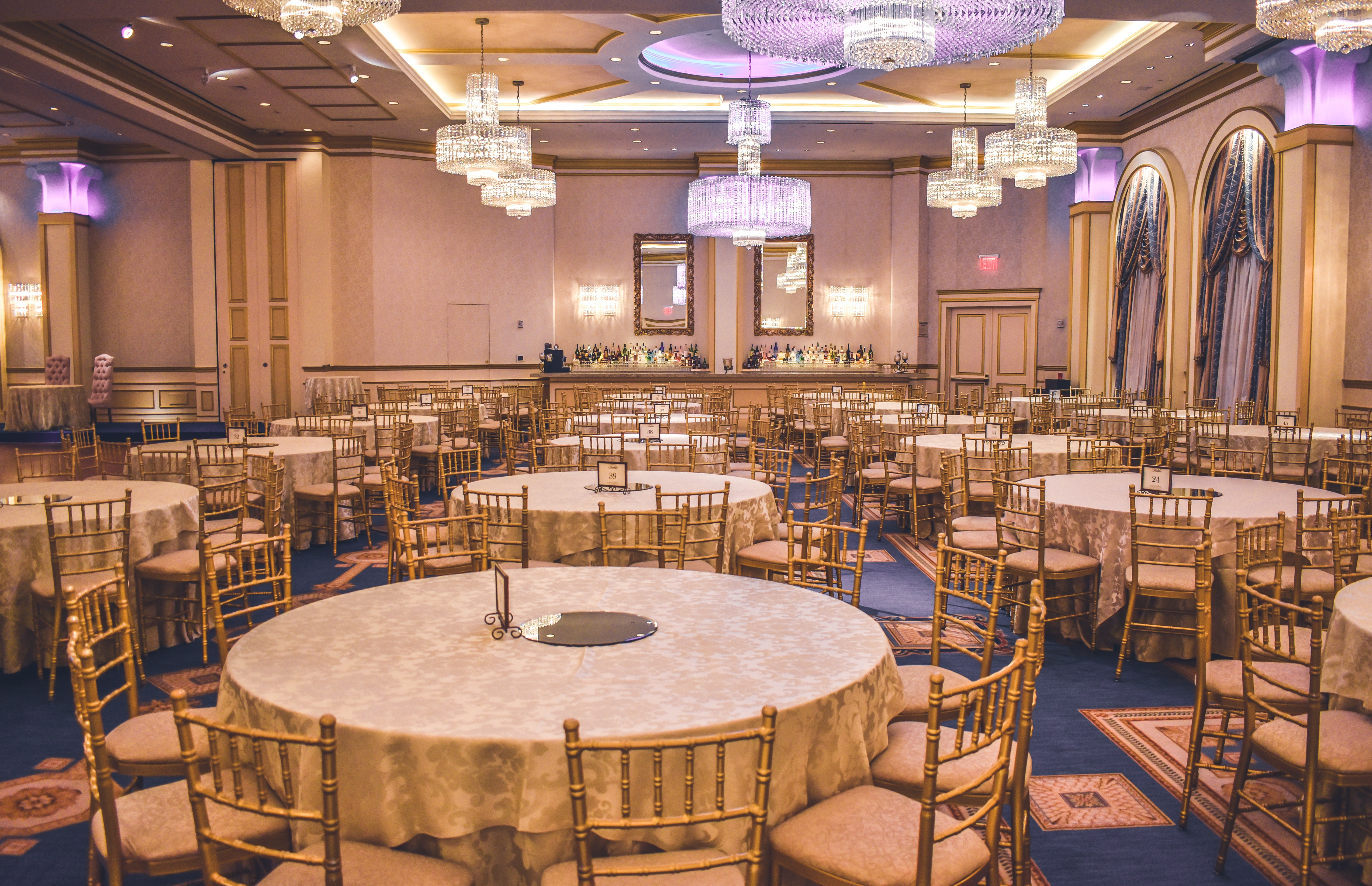 Chiavary Chairs and Round Tables