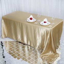 Champagne Satin Rectangular Tablecloth
