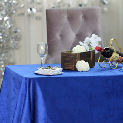 Royal Blue Velvet Premium Tablecloth