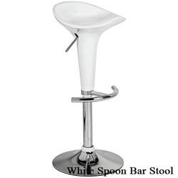 White Spoon Bar Stool