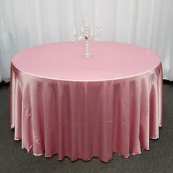 Pink Satin Tablecloth