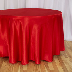 Red Satin Tablecloth