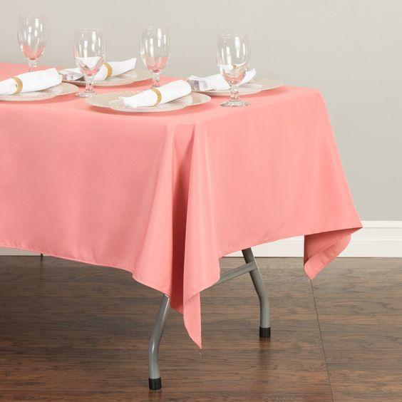 Rectangular Tablecloth Pink