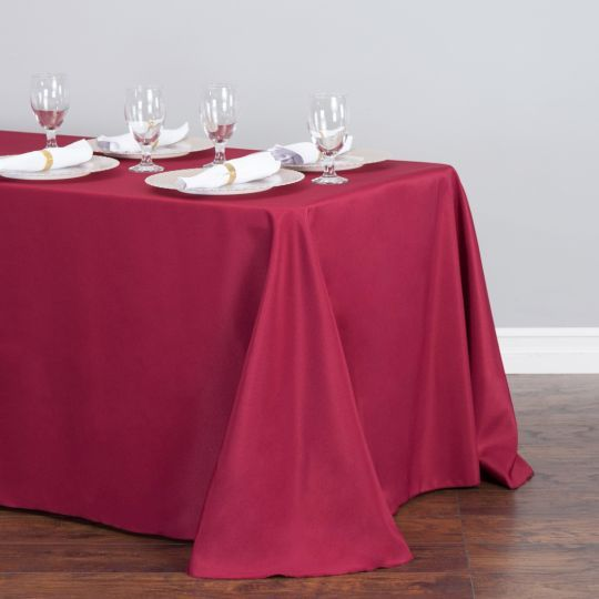 Rectangular Tablecloth Raspberry Pink