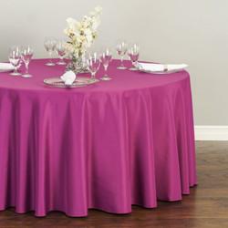 Round Polyester Tableclott Purple Wine