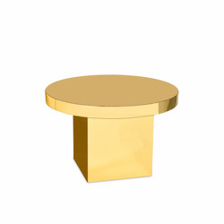 Glossy Round Table Gold