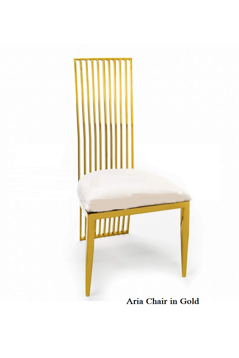 Aria Chair Gold
