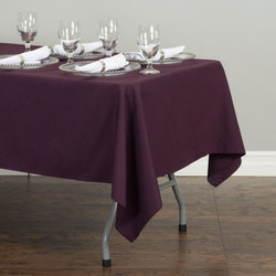 Rectangular Tablecloth Eggplant