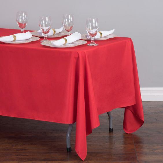 Rectangular Tablecloth Red