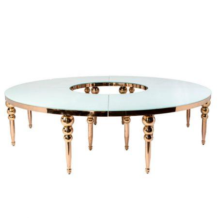 Dubai Serpentine Table Rose Gold