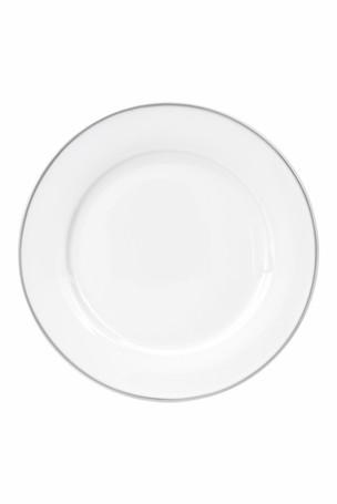 Silver Rim Dinner Plate