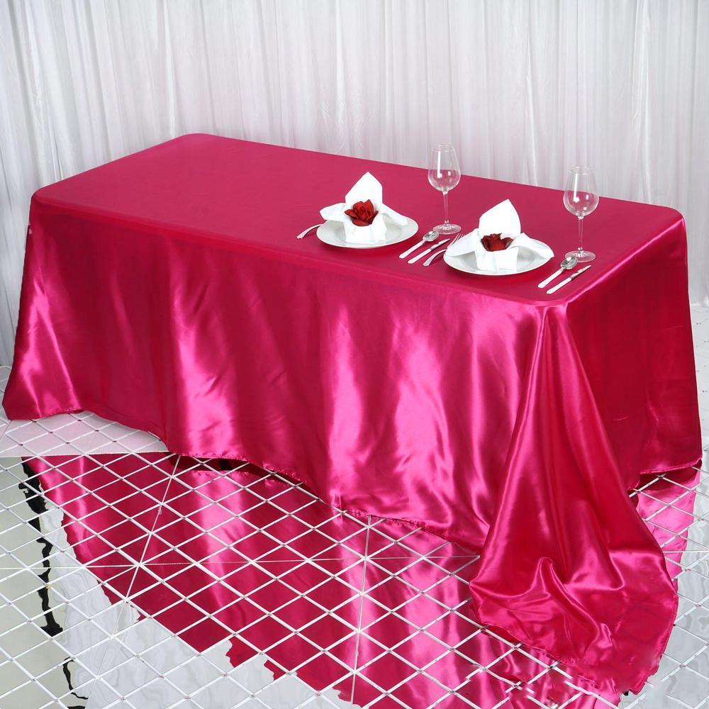 Fuschia Satin Tablecloth
