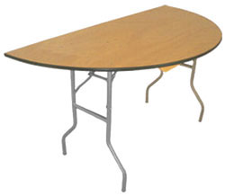 """Half Moon Table 60"""", 48"""""""
