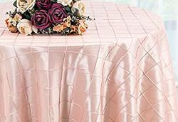 Pintuck Taffeta Tablecloth Blush Pink