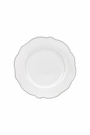 Wavy Salad Plate Silver Rim