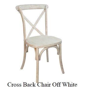 X-Back Farm Style Chair Off White