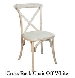X-Back Farm Style Chair Off White