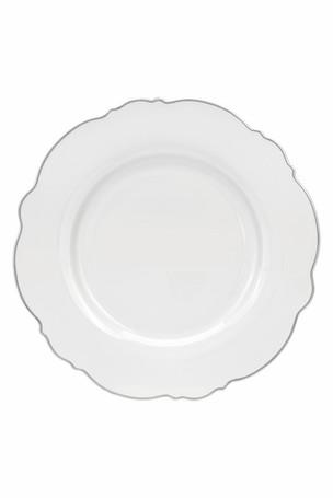 Wavy Dinner Plate Silver Rim