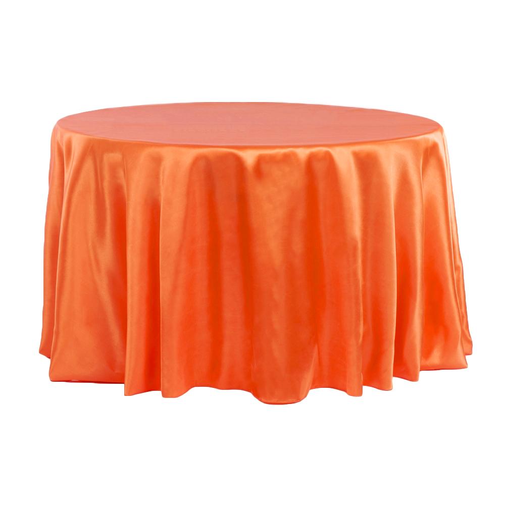 Orange Satin tablecloth