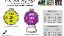 DISC GOLF BAG TAGS PRICING