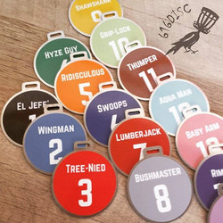Disc Golf Bag Tags for Makin Chainz DGC. Order your club bag tags at www.616disc
