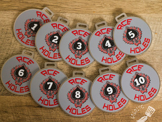 DISC GOLF BAG TAGS for Ace Holes DGC