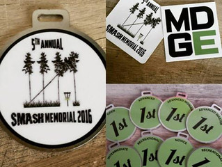 Michigan Disc Golf Empire Bag Tags and Decals