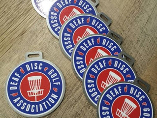 Deaf Disc Golf Association Bag Tags