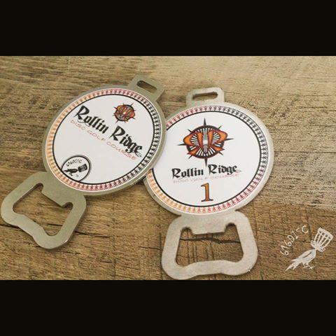 Disc Golf Bag Tags -Rollin Ridge DGC 2016