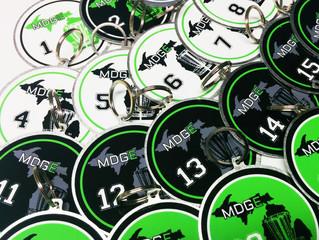 Disc Golf Bag Tags - MDGE 2015